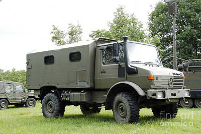 Unimog Truck Of The Belgian Army Print by Luc De Jaeger