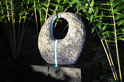 Untitled Glass And Rock Sculpture Print by Tommy  Urbans