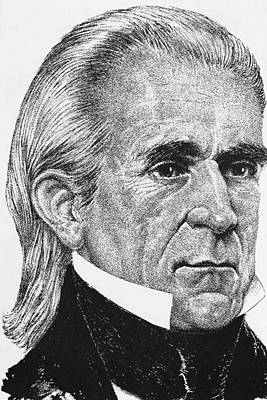 Us Presidents. Us President James K Print by Everett