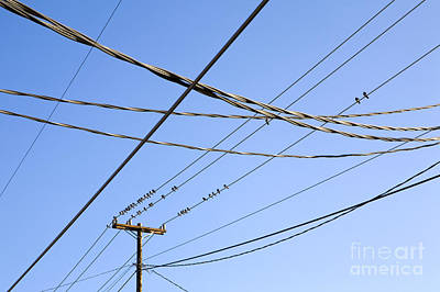 Telephone Poles Photograph - Utility Pole And Power Lines by Paul Edmondson