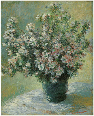 Vase Of Flowers  Print by Claude Monet