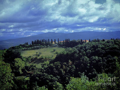 View Of Tuscany Print by Karen Lewis