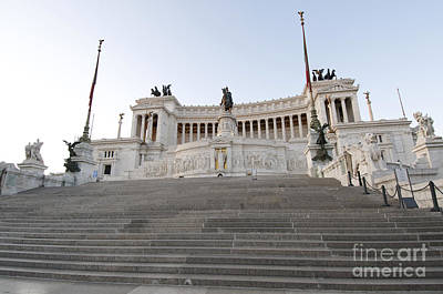 Staircase Photograph - Vittoriano Monument To Victor Emmanuel II. Rome by Bernard Jaubert