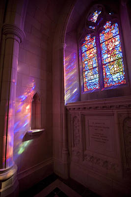 Washingtons National Cathedral Stained Print by Richard Nowitz