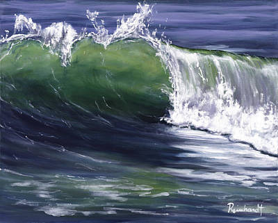 Malibu Painting - Wave 8 by Lisa Reinhardt