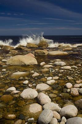 Waves Hitting Rocks, Anchor Brook Print by John Sylvester