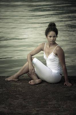 Woman At A Lake Print by Joana Kruse