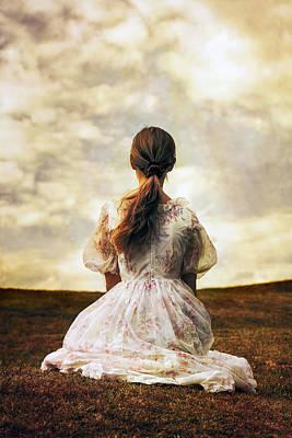 Woman On A Meadow Print by Joana Kruse