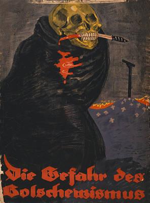 World War I, Bolshevism, Poster Shows Print by Everett