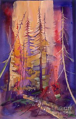 Yellowstone Fire Print by Pati Pelz