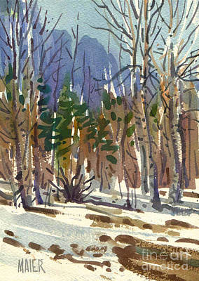 Yosemite National Park Painting - Yosemite Valley In Winter by Donald Maier