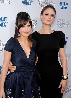 Zooey Deschanel, Emily Deschanel Print by Everett
