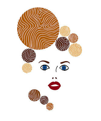 Fashion Abstract Art Drawing - Illustration Of A Woman In Fashion by Frank Tschakert