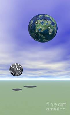 Planets Print by Odon Czintos