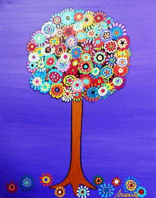 Mexican Painting - Tree Of Life by Pristine Cartera Turkus
