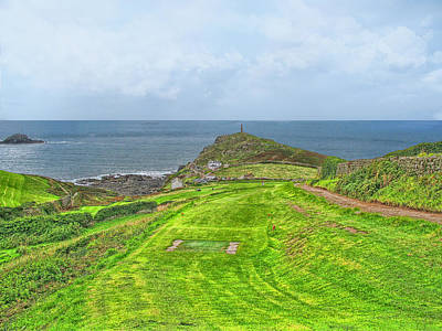 10th Tee At Cape Cornwall Golf Course Print by Chris Thaxter