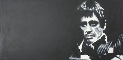 Cocaine Painting - Scarface by Luis Ludzska