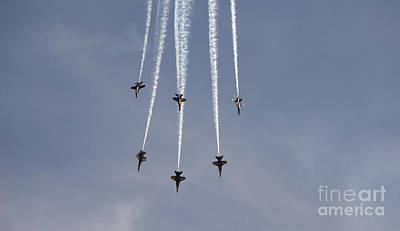 The Blue Angels Perform Aerial Print by Stocktrek Images