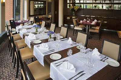 Tableware Photograph - The Interior Of A Modern Hotel by Jaak Nilson