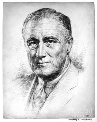 Franklin Delano Roosevelt Print by Granger
