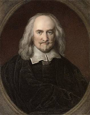 1660 Thomas Hobbes English Philosopher Print by Paul D Stewart