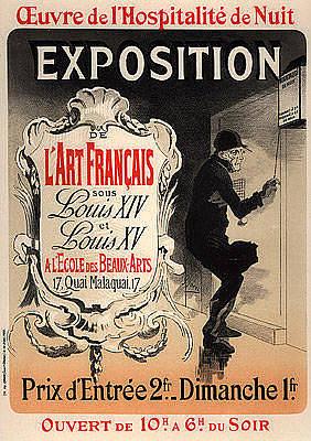 1890s Original French Art Nouveau Maitre De Laffiche Poster Hospitalite De Nuit  Original by Cheret
