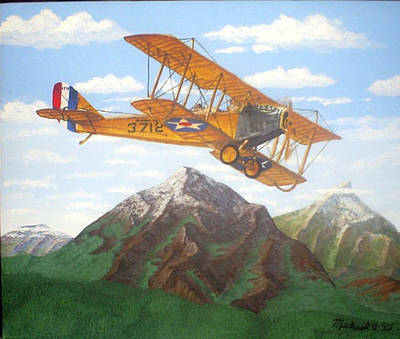 Airscape Painting - 1917 Curtis Jenny Jn4 Used By The Army Air Corps by Mickael Bruce