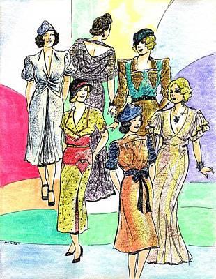 1930s Fashions Print by Mel Thompson