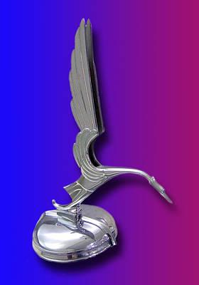 Mascot In Chrome Photograph - 1931 Cadillac V-16 Heron Mascot by Jack Pumphrey