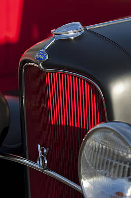 Ford Roadster Photograph - 1932 Ford Roadster Grille 3 by Jill Reger