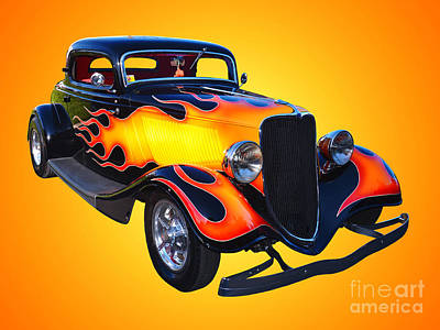 1934 Ford 3 Window Coupe Hotrod Print by Jim Carrell