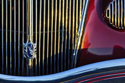 1936 Ford Phaeton V8 Grille Emblem Print by Jill Reger