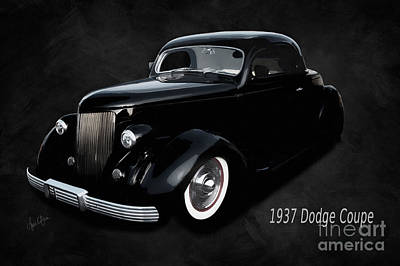 Historic Vehicle Mixed Media - 1937 Dodge Coupe  by Anne Kitzman