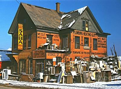 Buy Sell Photograph - 1940 Brockton Secondhand Store In Massachusetts by Padre Art