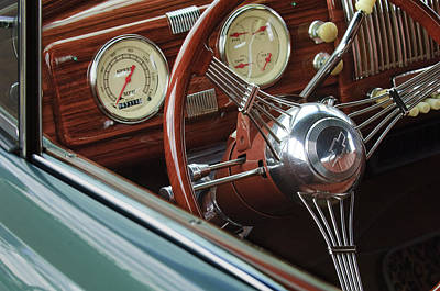 1940 Chevrolet Steering Wheel Print by Jill Reger