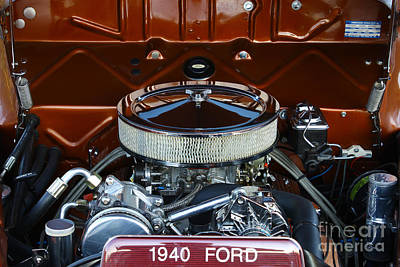 Muscle Car Masters Photograph - 1940 Ford Sedan by Barry  Blackburn