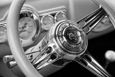 1941 Pontiac Steering Wheel Print by Gordon Dean II
