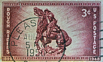 Potus Photograph - 1948 Rough Riders Stamp by Bill Owen