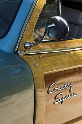 1951 Ford Woodie Country Sedan Print by Jill Reger