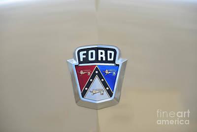 1954 Ford Customline Emblem Print by Paul Ward