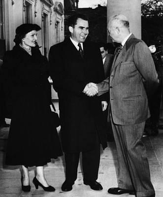 1954 Us Presidency.  Us President Print by Everett