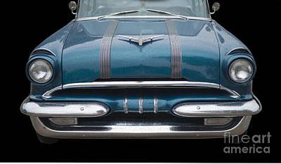 1955 Pontiac Star Chief Front Print by Betty LaRue