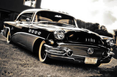 1956 Buick Super Series 50 Print by Phil 'motography' Clark
