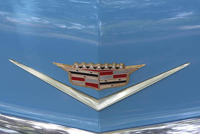 1956 Cadillac Emblem Print by Linda Phelps