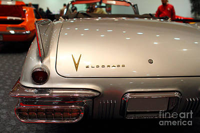 1958 Cadillac Eldorado Biarritz Convertible . Silver . 7d9466 Print by Wingsdomain Art and Photography