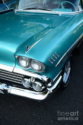 1958 Chevy Belair Front End 01 Print by Paul Ward
