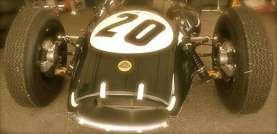 Lotus Racecar Photograph - 1958 Lotus Climax 16 Front by John Colley