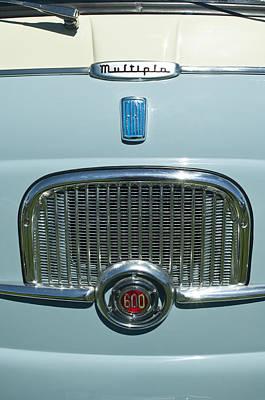1959 Fiat Multipia Hood Emblem Print by Jill Reger
