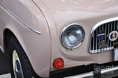 1963 Renault R4 - Headlight And Grill Print by Kaye Menner