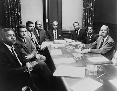 1964 Civil Rights Summit L To R Bayard Print by Everett